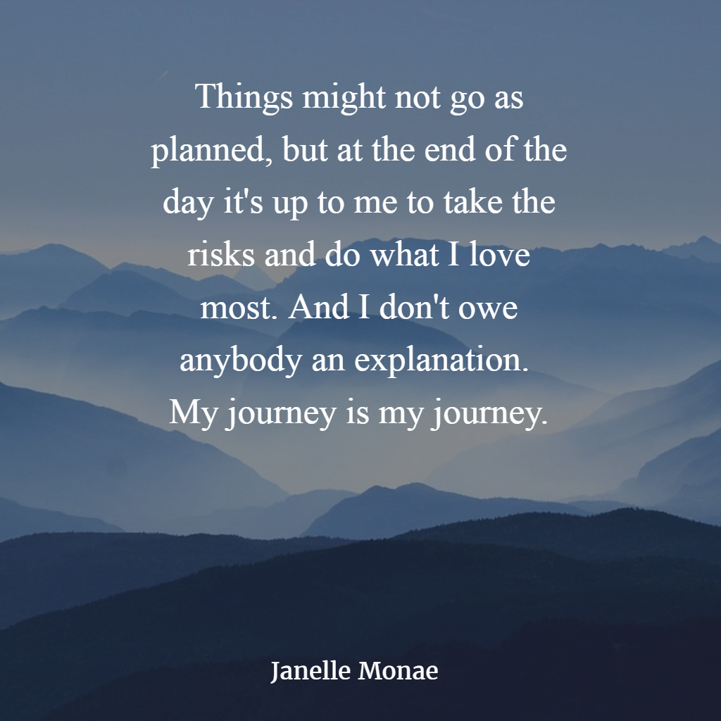 My Life, My Risk, My Journey, NO EXPLANTIONS!